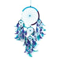 Dreamcatcher blue/white/purple 22cm and 4 small