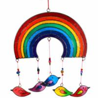 Suncatcher rainbow with birds