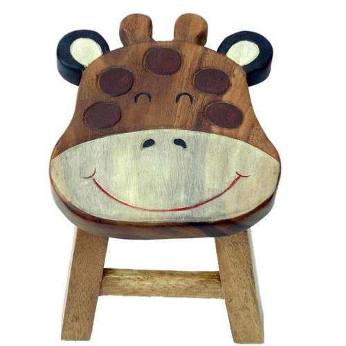 Child's wooden stool - giraffe