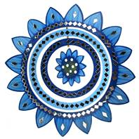Mirror mobile sunflower blue 27cm