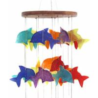 Shell mobile chime dolphins