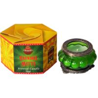"""Great Caravan"" candle in glass, saundhi mitti"