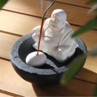 Incense gift set, base and Buddha, 10cm diam