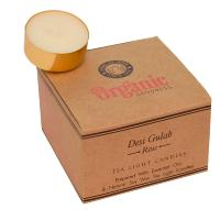 12 t-lite scented candles, Organic Goodness, Desi Gulab Rose
