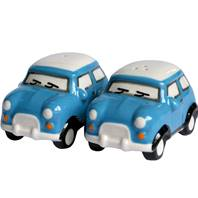 Salt and pepper set, mini car, assorted colours