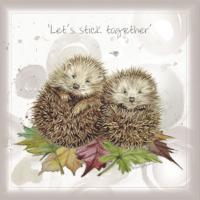 Greetings card, let's stick together