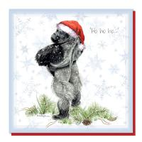Christmas card, gorilla