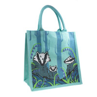 Jute bag, badgers