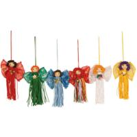 Set of 6 hanging fairies