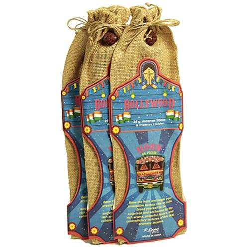 Incense and holder in jute bag Bollywood (set 12)