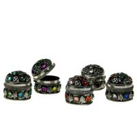 Pill box with gems assorted colours