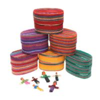 Worry dolls x 6 in embroidered box asst cols x 60