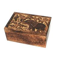 Mango wood box 15.5x10x6.5cm