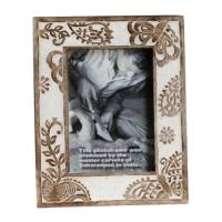Photo frame, wood butterfly and leaf, 5x7inch photo