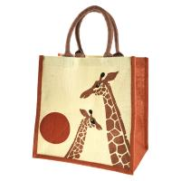 Jute shopping bag, giraffe