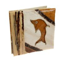 Leaf notebook 19x19cm dolphin
