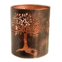 T-lite holder, metal die cut, tree, 15cm height