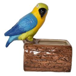 Candle box blue parrot