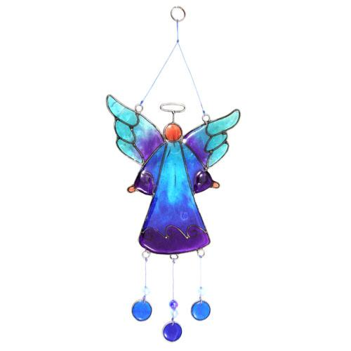 Suncatcher angel with beads assorted 28cm