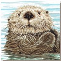 Greetings card, sea otter
