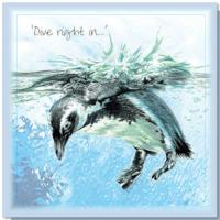 Greetings card, dive right in