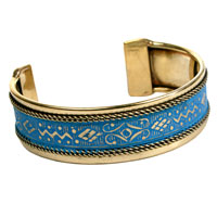 Bangle blue pattern