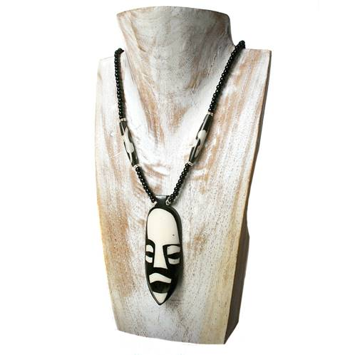 Cow bone necklace mask