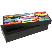 Crayon/pencil box, recycled crayons