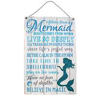 "Metal plaque ""Advice from a mermaid"" 20x30cm"