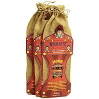 Incense and holder in jute bag Namaste (set 12)