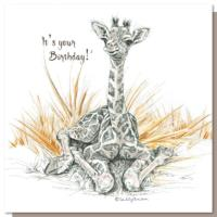 Greetings card, giraffe