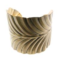 Bangle, gold coloured leaf