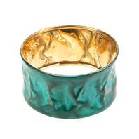 Bangle, turquoise wrinkled and distressed