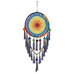 Dreamcatcher rainbow with pompoms & tassels 42cm