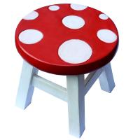Child's wooden stool, toadstool
