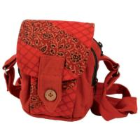 Camera bag red brown