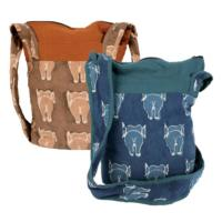 Cross body boat bag elephant bum