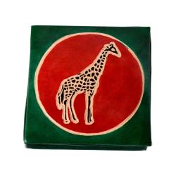 Leather coin purse giraffe