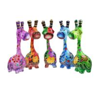 Colourful wooden giraffe 17cm