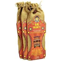 Incense and holder in jute bag Om Shanti (set 12)