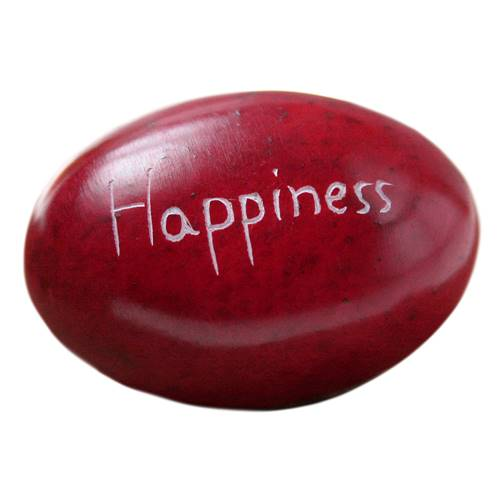 Palewa sentiment pebble, red - Happiness