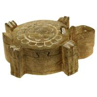 Turtle shaped puzzle box, mango wood