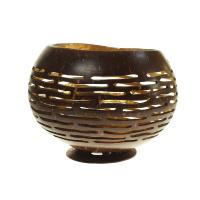 Coconut bowl gold colour lacquer inner 10x8cm