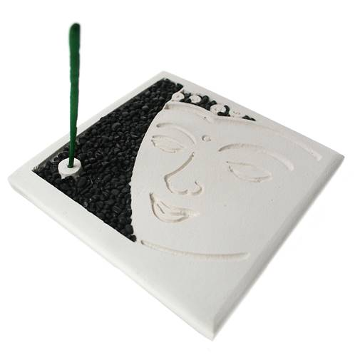 Incense gift set, Buddha face, 14x14cm