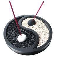 Incense gift set, yin yang base, 15cm diam