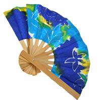 Paper fan batik assorted colours 20cm