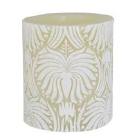 Candle lotus flower white + ivory, 7.5cm recessed