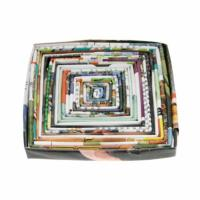Coaster, square 10cm, recycled paper