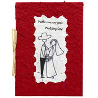 Wedding Day card, red