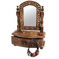 Miniature dressing table for jewellery, trinkets, with mirror, 33x26x12cm